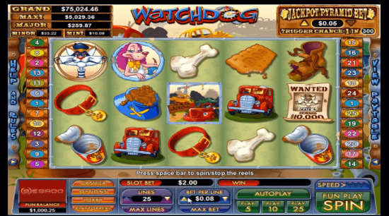 Watchdog video slot, turning garbage into riches