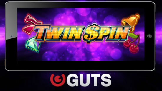 15 Free Spins on Twin Spin, No Deposit, at Guts!