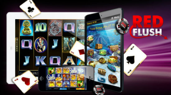 Get over  1,000 in Bonuses at Red Flush!