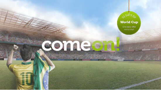 Get your Tickets for ComeOn!'s  100,000 World Cup Lottery!