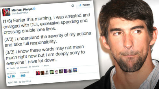 Michael Phelps Arrested For DUI after Gambling Binge in Baltimore